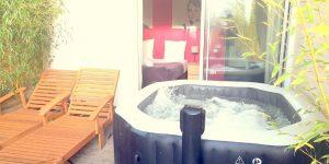 2 - PHOTO PRINCIPALE CHAMBRE DOUBLE AVEC JACCUZI chambre avec spa privé cote d'azur