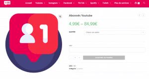 acheter abonné youtube